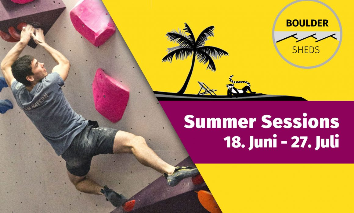 Infoplakat Summer Sessions Boulder Sheds