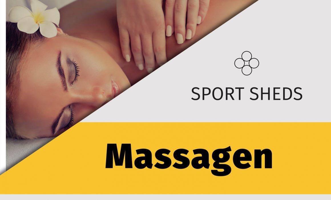 Infoplakat Sport Sheds Massagen