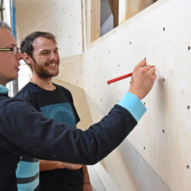 Bau der Boulderhalle durch die Boulderwelt 14