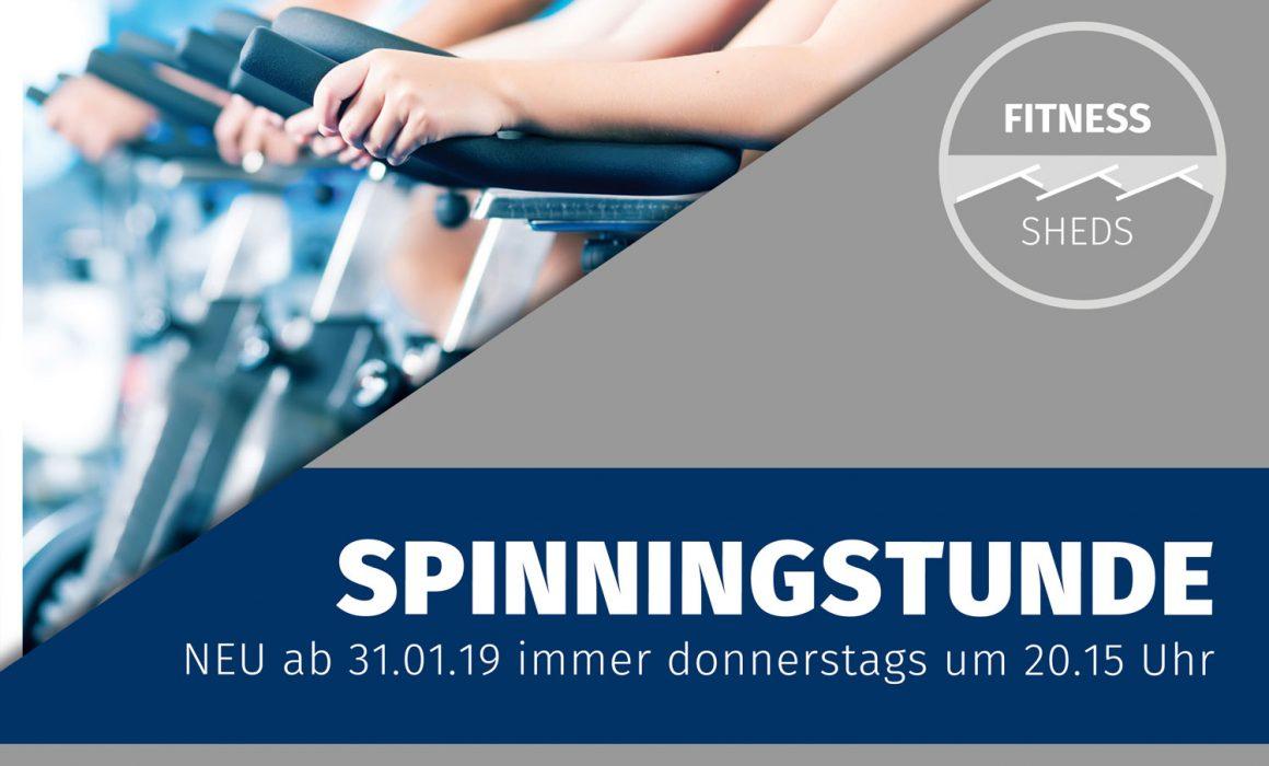 Infoplakat neue Spinningstunde