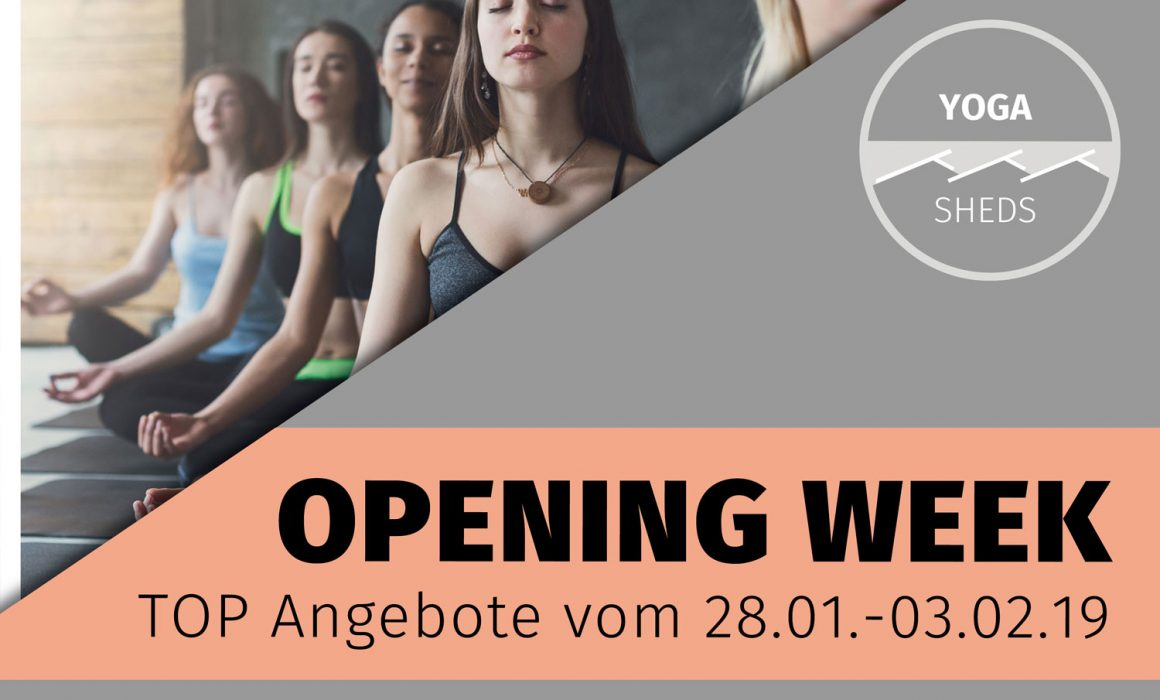 Infoplakat Yoga Sheds Opening Week